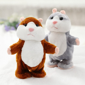 Walking Talking Sound Record Soft Plush Hamster Toys