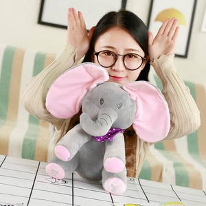 Peek a Boo Elephant Plush Toy As Children's Appease Toys