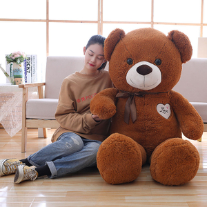90/110 cm Soft Scarf Teddy Bear Plush Toys Stuffed Plush Animals Soft Bear Pillow Cushion Toy For Kids Dolls Children Gifts