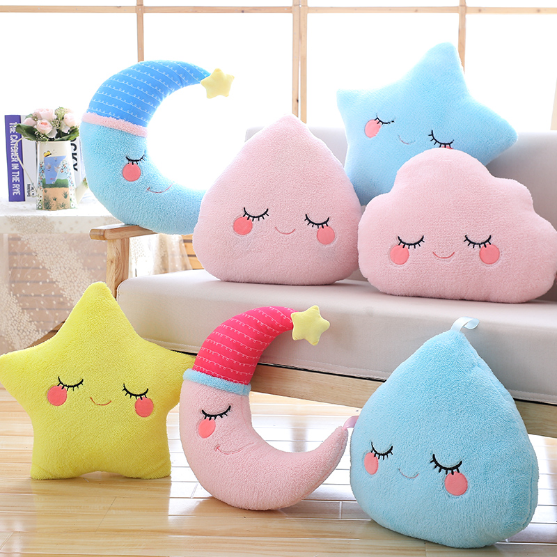 Wholesale Drop Shipping Lovely Weather Theme Pillow Cushion Stuffed Plush Toys For Home Decoration Sofa &Chair