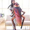 Instagram Hottest Creative Simulation 3D Printed Cockroach Plush Toy Insect Pillow Cushion Toy For Children Birthday Gift