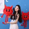 Emoji Emotion Soft Red Trident Devil Plush Toys Stuffed Devil Cushion Decent Bed Toys For Children's Gift
