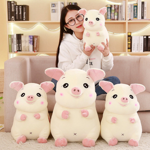 30/40/50 cm Soft Pink Pig Plush Toy Soft Stuffed Cute Animal Pig Lovely Dolls for Kids Appease Toy Baby's Room Decoration