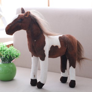 Simulation Soft Horse Plush Toys Stuffed Animal Ferghana Horse Education Toys Kids Birthday Gift Home Decoration Prop Toy