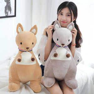 65 cm Soft Kangaroo Plush Toy Stuffed Animal Kangaroo Plush Soft Placating Toys Brand For Children's Bed Toy