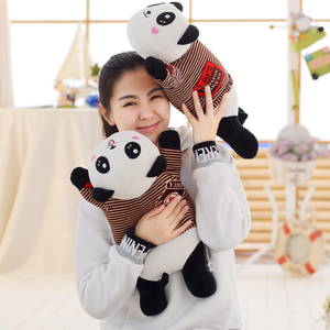 30/45/65 cm Soft Panda Plush Toy Stuffed Cute Animal Panda Cushion Pillow for Kids Appease Toy Baby's Room Decoration