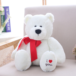 25/32/40 cm Soft Polar Bear Plush Toy Stuffed Animal Polar Bear Toys For Children Home Decoration Decent Bed Toy