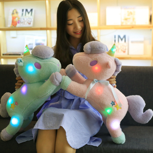 LED Twinkled Plush Unicorn Toy Stuffed Animal Luminous Unicorn Toy For Children Brand Toy Wholesale DropShipping Available