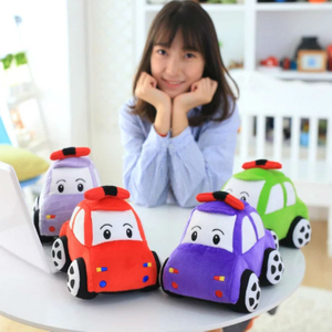 23cm Soft Cartoon Car Plush Toy Eco-Friendly PP Cotton Stuffed Toys Kids Cartoon Car Toy For Children's Birthday Day Gift