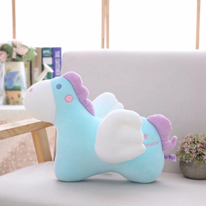 35/45 cm Soft Flying Horse Plush Toy Crystal Feather Cotton Stuffed Pony Pillow Super Soft Toys Brand For Children