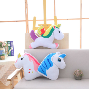 Plush Unicorn Toy Unicorn Pillow Cushion Plush Stuffed Animal Pony Toy For Children Wholesale Drop Shipping Available