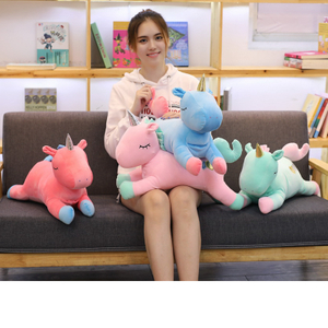 Dual Purpose Unicorn Plush Toy Hand Warmer Unicorn Toy Cushion Pillow Plush Toy For Children