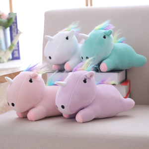 22 cm Soft Unicorn Plush Toy Fat Plush Unicorn Stuffed Animal Unicorn Plush Toys Brand For Children Wholesale Drop Shipping