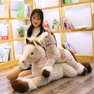 85/125 cm Super Soft Toys Big Size Horse Pony Pillow Stuffed Horse Plush Toys For Children & Fans Gift