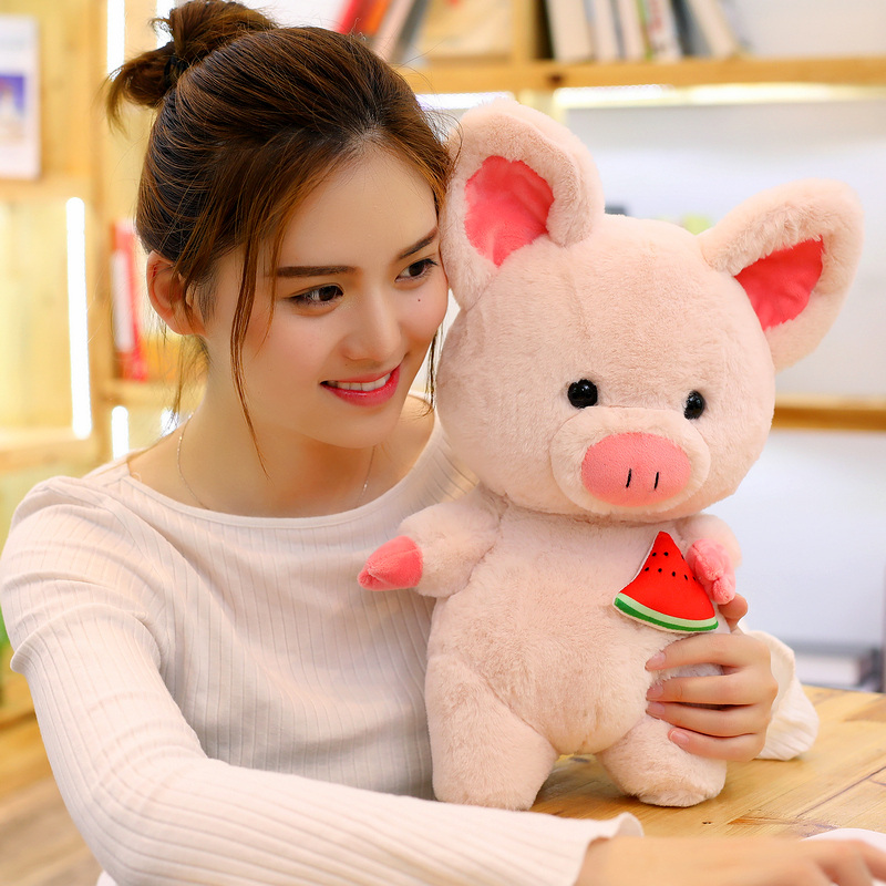 35/45 cm Soft Pink Pig Adorable Plush Toy Soft Stuffed Cute Animal Pig Lovely Dolls for Kids Appease Toy Baby's Room Decoration