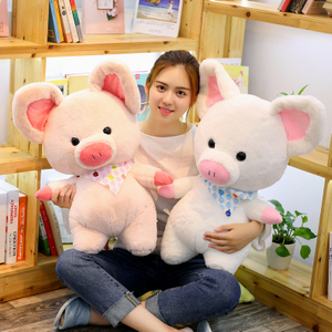 70 cm Soft Pink Pig Adorable Plush Toy Soft Stuffed Cute Animal Pig Lovely Dolls for Kids Appease Toy Baby's Room Decoration