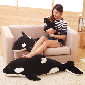 Giant Soft Simulation Killer Whale Plush Toy Soft Stuffed Ocean Animal Killer Whale Toys Birthday Gifts Plush Toy For Children