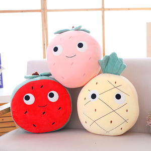 25x30 cm Cartoon Soft Fruit Shape Plush Toy Stuffed Fruit Pillow /Cushion Plush Toys For Home Decoration Sofa &Chair
