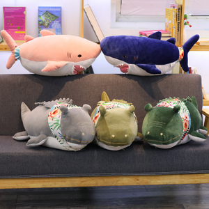 70 cm Shark Crocodile Plush Toy Pillow With 100*170 cm Cotton Blanket Toys For Children