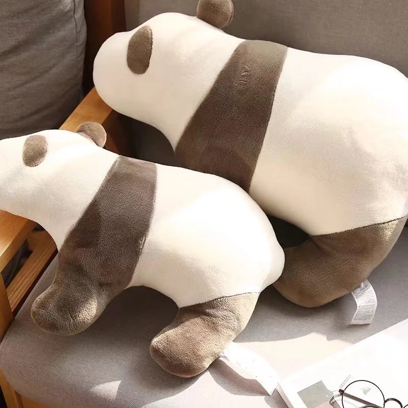 Quality Stitches Adorable Panda Plush Toys Pillow Stuffed Animals Panda Bed Sofa Cushion Appeasing Toy For Children's Gifts