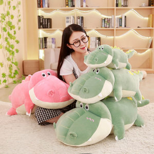 Large size 55/80/100 cm Stuffed Animal Soft Crocodile Alligator Cotton Pillow Cushion Plush Toy For Children Climbing Practice