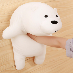 50/70 cm Plush Toys We Bare Bears Stuffed Animal Grizzly Gray Polar Bear Panda Plush Toys For Children & Fans Gift Drop Ship