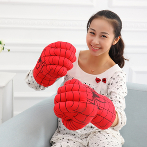 Super Hero Boxing Gloves Against Thanos Smash Hands Soft Plush Gloves Cosplay Costume Toy Fists for Birthday Christmas Gift
